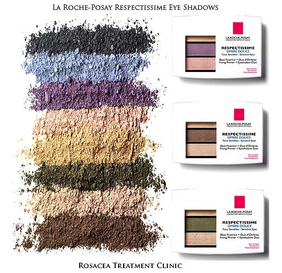 Makeup for Ocular Rosacea: La Roche-Posay Respectissime Ombre Douce Eye Shadows.